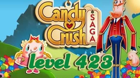 Candy Crush Saga Level 423 - ★★★ - 130,900