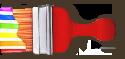 Stripe brush activated (horizontal)