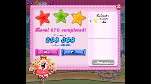 Candy Crush Saga Level 676 ★★★ NO BOOSTER