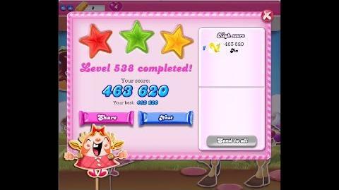 Candy Crush Saga Level 538 ★★★ NO BOOSTER