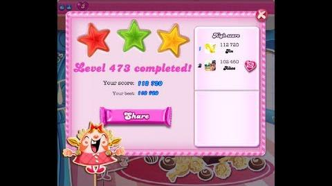 Candy Crush Saga Level 473 ★★★ NO BOOSTER-0