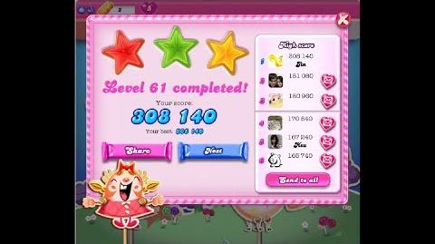 Candy Crush Saga Level 61 ★★★ NO BOOSTER