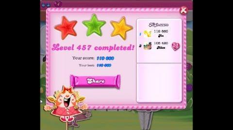 Candy Crush Saga Level 457 ★★★ NO BOOSTER