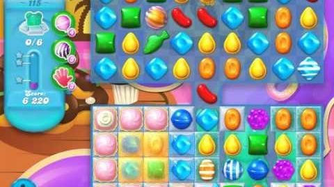 Candy Crush Soda Saga Level 115 (9th version, 3 Stars)
