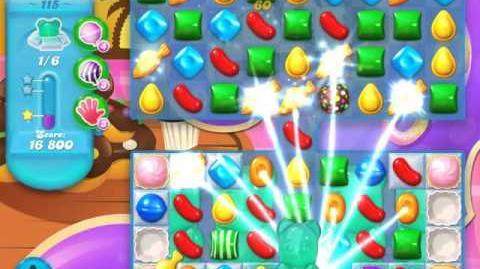 Candy Crush Soda Saga Level 115 (8th version, 3 Stars)