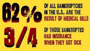 Medical bankruptcies in the USA