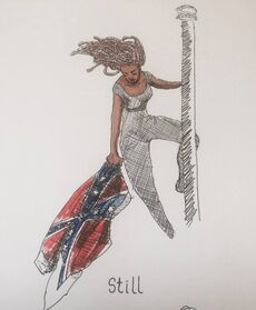Columbia 2015 June 27 Bree Newsome in South Carolina