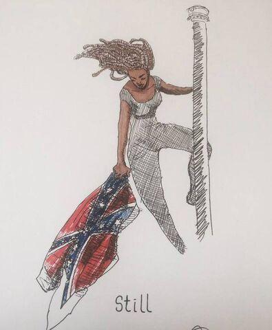 File:Columbia 2015 June 27 Bree Newsome in South Carolina.jpg