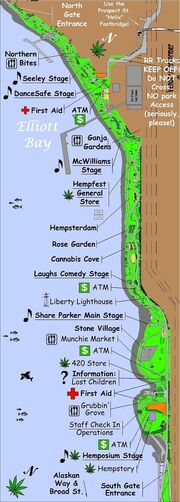 Seattle 2009 Hempfest map