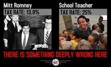Mitt Romney tax rate vs teacher 2