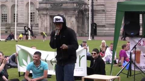 BeatBox Fozzy at the Million Marijuana March, Cardiff 2011