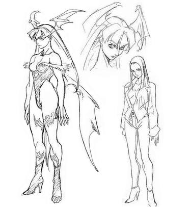File:Morrigan OVA Sketches.png