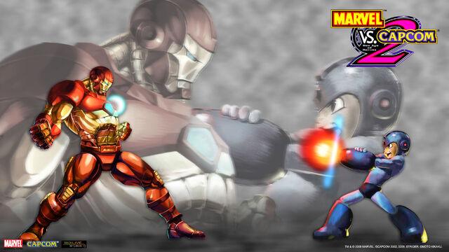 File:Marvel Vs Capcom 2 wallpaper - Iron Man & Mega Man.jpg