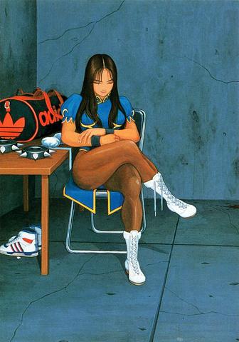 File:Street Fighter II Chun-Li Sitting.png