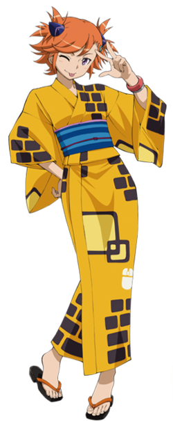Captain Earth Wiki - Character - Akari Yomatsuri - Yukata