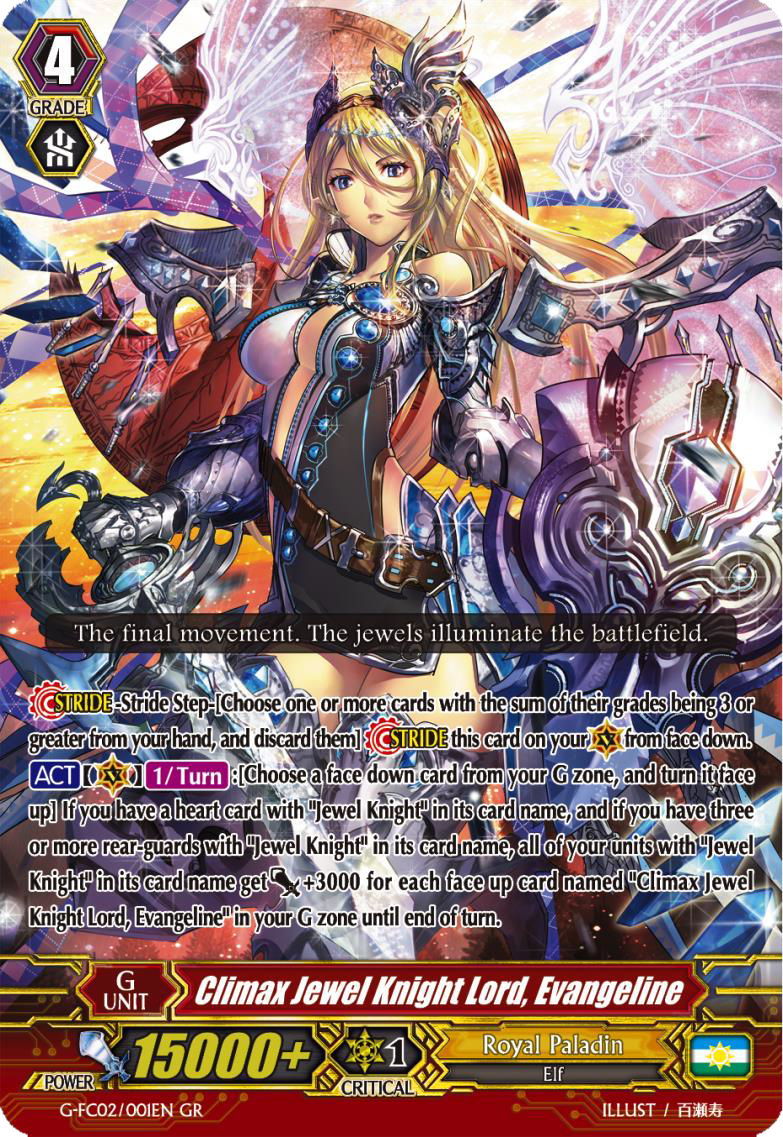 Card Gallery:Climax Jewel Knight Lord, Evangeline | Cardfight ...
