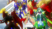 DragonicBlademaster-GreatDaiyusha-DragonicVanquisher-MarquisAmon-Riviere-ValkyrieLaurel (Anime-SG-NC)