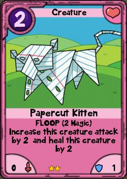 Papercut Kitten