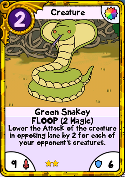 Green Snakey Gold