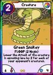 Green snakey