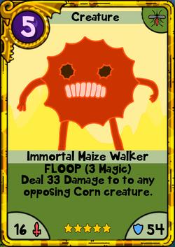 Immortal Maize Walker Gold