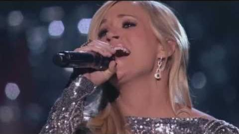 Carrie Underwood with Vince Gill How Great thou Art - 720P HD - Standing Ovation!-1