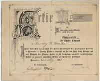 20 thalers 1885