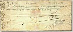 50 thaler note, 1705