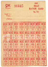 Meat ration card