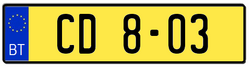 Diplomatic license plate France