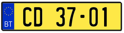 Libertan ambassador dipl license plate
