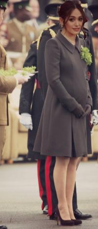 Queen Helene at Armistice Day ceremonies