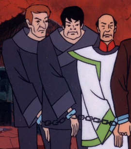 A. Fong and henchmen unmasked