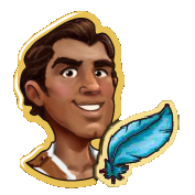 Rafael with Blue Feather