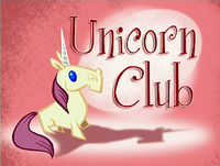 Unicorn Club Title Card