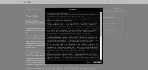 Visual source editor