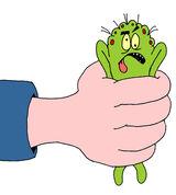 Squashed bug cartoon