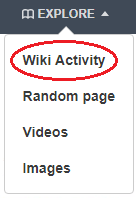 Wiki activity button