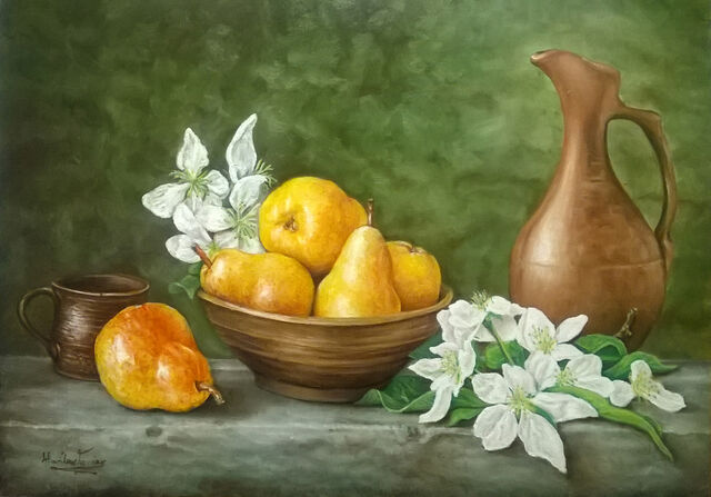 File:Still life, pears with pottery.jpg
