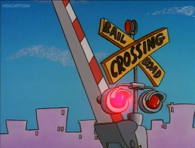 File:Railroad Crossing Cartoon Rocko's Modern Life Driving Mrs Wolfe 02.png