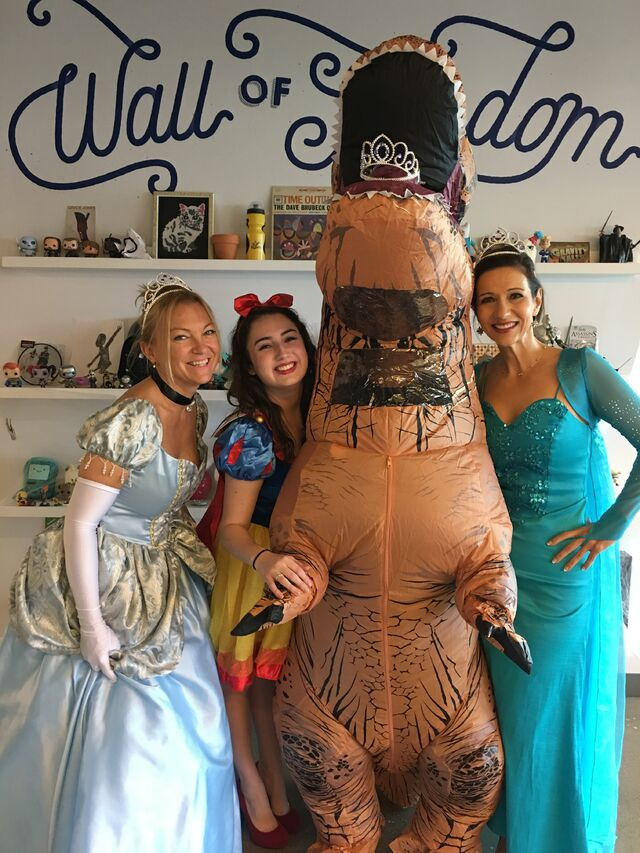File:Team Rejected Princesses with T-Rex.JPG