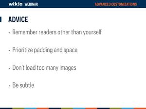 Advanced Customization Webinar Slide37