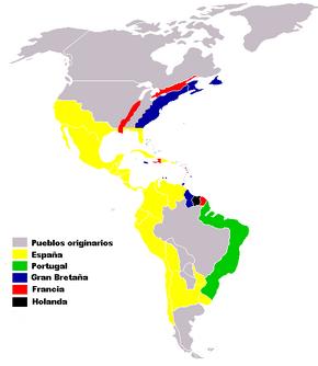 Colonias europea en América siglo XVI-XVIII
