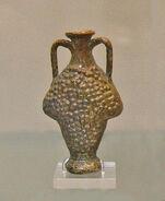 Roman lead-glazed flask