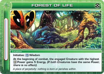 Forest of Life card