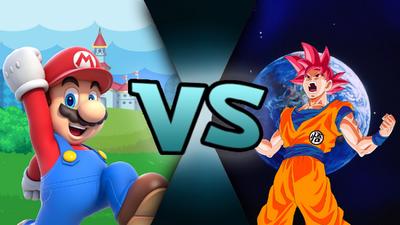 Mario VS God Goku