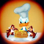 Donald Chipmunks Pancakes