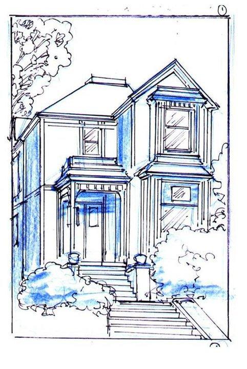 Manor House Drawing: Image - CharmedComic Manor Sketch.jpg