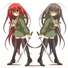 My 2 Shana Forms (Right: Normal Form. Left: Flame Haze form)