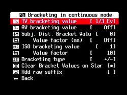 BracketInContMode TvBrackVal--1-3EV--brt